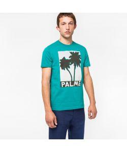 Paul Smith | Mens Slim-Fit Palme Print Organic T-Shirt