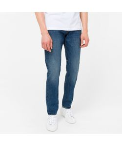 Paul Smith | Tapered-Fit High-Contrast Mid-Wash Jeans