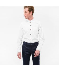 Paul Smith | Tailo-Fit Button-Down Oxford Shirt With Embroide Placket