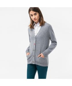Paul Smith | Marl Cardigan With Flower Button
