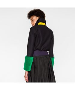 Paul Smith | Bomber Jacket With Faux-Fur Cuffs