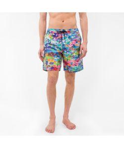 Paul Smith | Classic-Fit Paint Print Long Swim Shorts