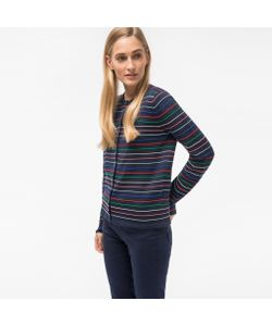 Paul Smith | Ribbed-Stripe Cotton-Blend Cardigan