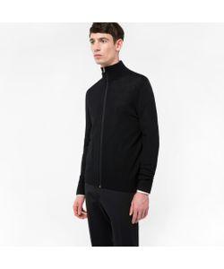 Paul Smith | Mens Merino-Wool Zip-Through Top