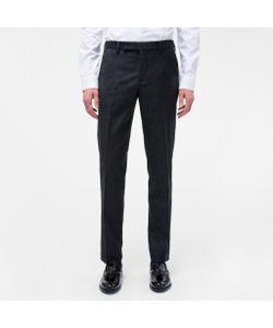 Paul Smith | Mens Slim-Fit Botanical Embroide Wool Trousers