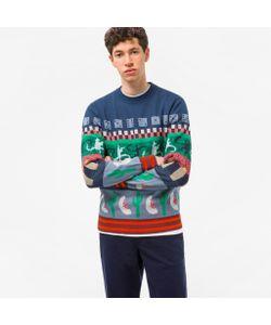 Paul Smith   Mixed-Motif Jacquard Sweater