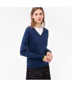 Paul Smith | Womens Cotton V-Neck Sweater