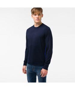 Paul Smith   Mens Merino Wool Sweater With Contrast Side Stripe