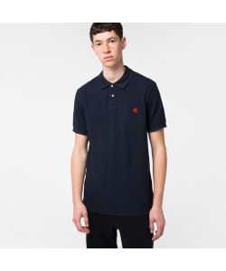 Paul Smith | Mens Embroide Ps Logo Organic-Cotton Polo Shirt