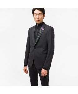 Paul Smith | Tailored-Fit Stretch-Wool Evening Blazer With Lapel Embroidery