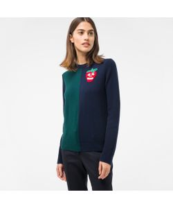 Paul Smith | And Sweater With Embellished Strawberry Skull