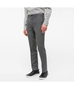 Paul Smith | Mid-Fit Salt-And-Pepper Wool-Silk Blend Trousers