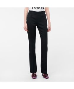 Paul Smith | Womens Wool-Twill Trousers With Waist Zip