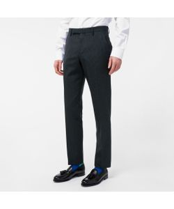 Paul Smith | Mens Slim-Fit Mini-Check Wool Trousers