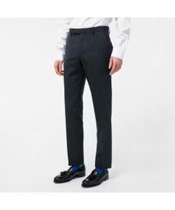 Paul Smith | Mens Slim-Fit Mini-Check Wool Trousers