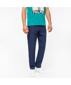 Paul Smith | Mens Tapered-Fit Cotton-Linen Chinos