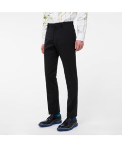 Paul Smith | Mens Slim-Fit Wool Trousers With Satin Piping