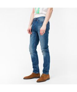 Paul Smith | Slim-Fit Mid-Wash Jeans With Mixed-Charm Detail