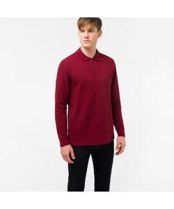 Paul Smith | Embroidered Ps Logo Long-Sleeve Polo Shirt