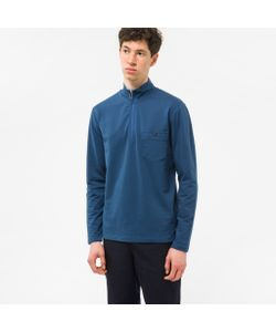 Paul Smith | Half-Zip Loopback-Cotton Sweatshirt