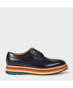 Paul Smith | Dark Leather Grand Brogues With Artist Stripe Soles