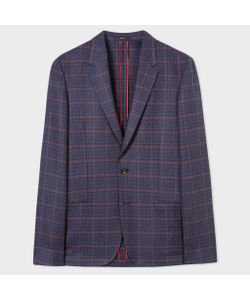 Paul Smith   And Damson Check Unlined Blazer
