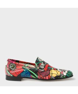 Paul Smith | Leather Glynn Penny Loafers With Wild Garden Print