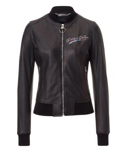 Philipp Plein | Leather Bomber Forest