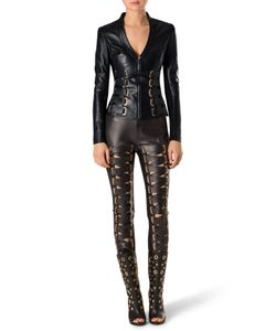 Philipp Plein | Leather Jacket Kyanite