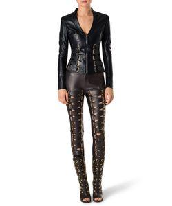Philipp Plein | Leather Jacket Kyanite
