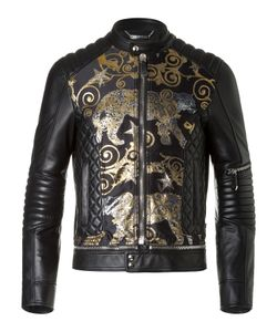 Philipp Plein | Leather Bomber Platinum