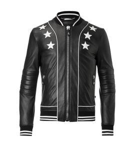 Philipp Plein | Leather Bomber Status