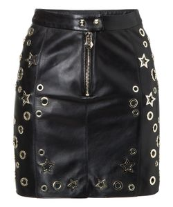 Philipp Plein | Leather Skirt Short Amber