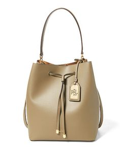 Ralph Lauren | Leather Debby Drawstring Tote