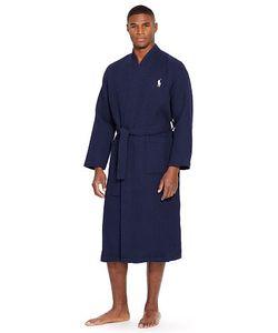 Ralph Lauren   Waffle-Knit Cotton Kimono Robe