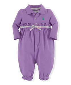 Ralph Lauren | Ruffled Cotton Polo Coverall