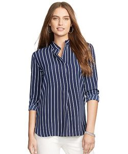 Ralph Lauren | Striped Crepe Tunic