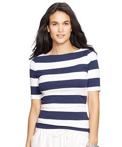 Ralph Lauren | Striped Stretch Cotton Tee