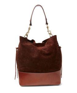 Ralph Lauren   Suede Square Hobo Bag