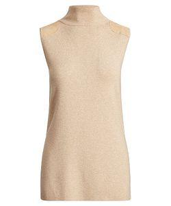 Ralph Lauren   Sleeveless Mockneck Sweater