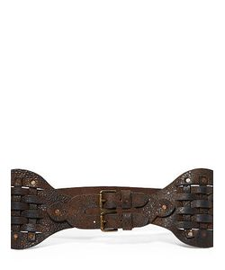 Ralph Lauren | Ralph Woven Vachetta Leather Belt