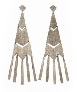 Ralph Lauren | Ralph Fringed Chevron Earrings