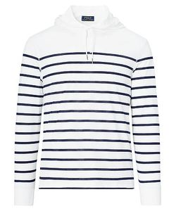 Ralph Lauren | Striped Pima Jersey Hoodie