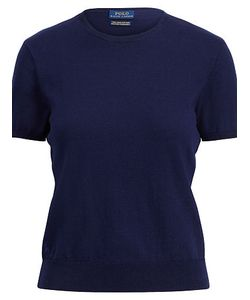 Ralph Lauren   Cotton Short-Sleeve Sweater