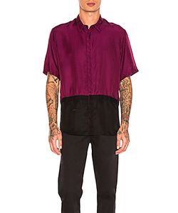 Robert Geller   Two Toned Taped Shirt