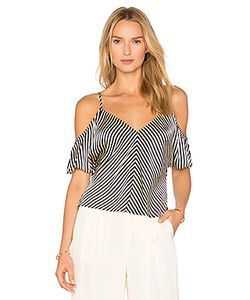 T by Alexander Wang | Cold Shoulder Silk Top