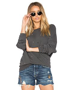 The Great   The College Multi Dot Embroidery Sweatshirt