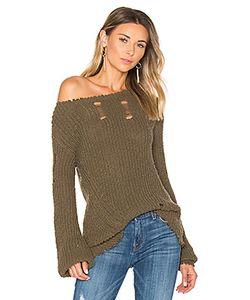 Pam & Gela   Shredded Wavy Sweep Sweater