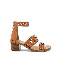 Soludos | Geo Laser Cut Mid Heel Sandal