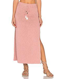 She Made Me   Jannah Crochet Midi Skirt